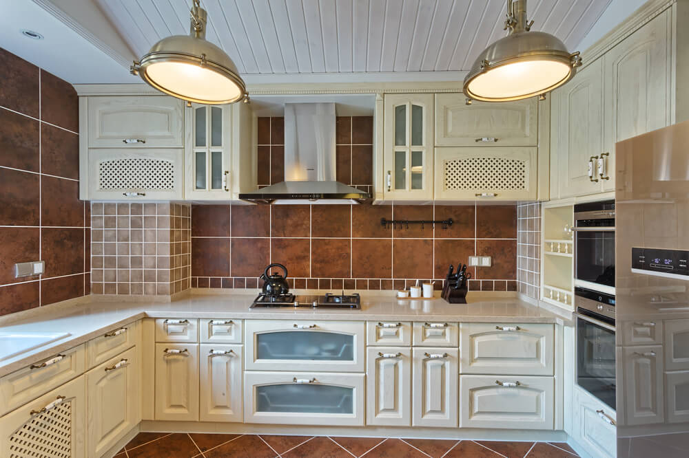 tile backsplash ideas for white cabinets | My Web Value on kitchens with grey floors, kitchens with brown blinds, bathrooms with dark floors, kitchens with brown paint, kitchens with brown sinks, kitchens with travertine floor tile, best smooth gray floors,