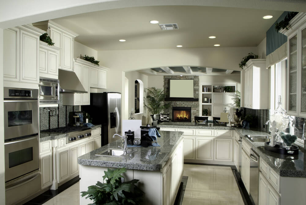 41 luxury u shaped kitchen designs layouts photos for U shaped kitchen with island floor plan