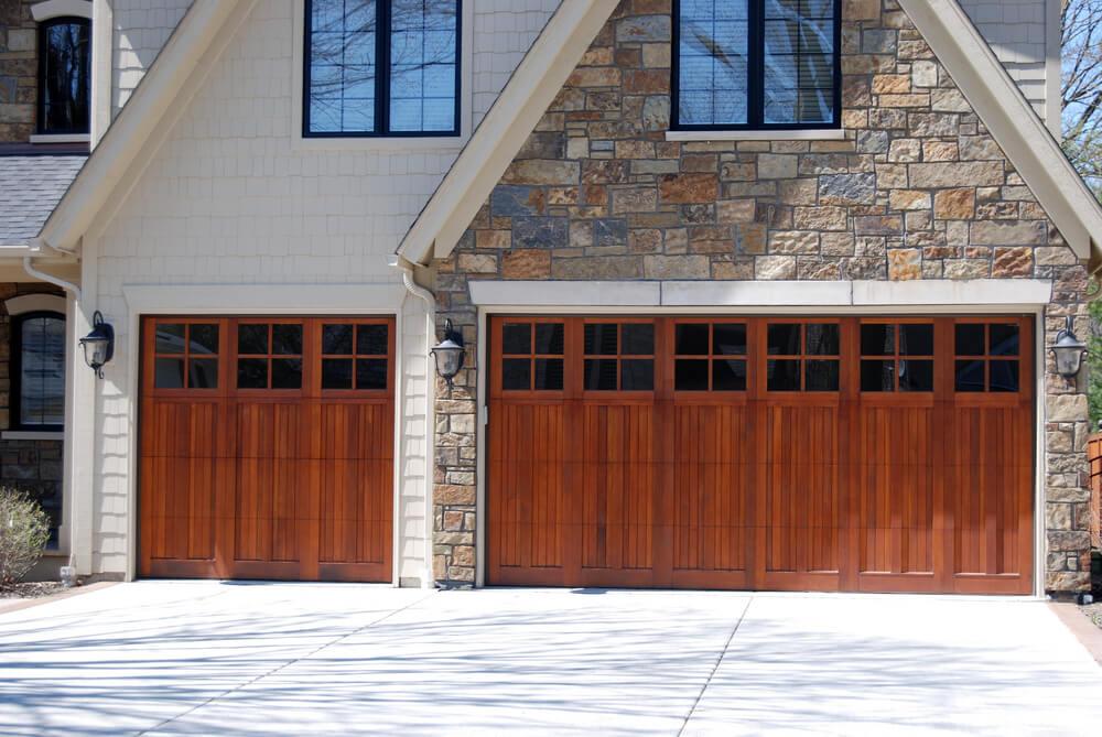 60 residential garage door designs pictures for Wooden garage door designs