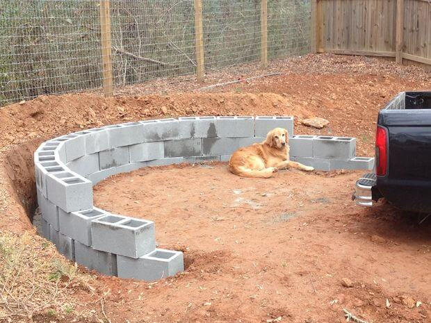 how to build a circular fire pit