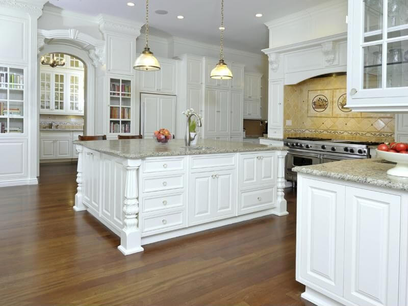 Light Grey Kitchen White Cabinets 41 white kitchen interior design & decor ideas (pictures)