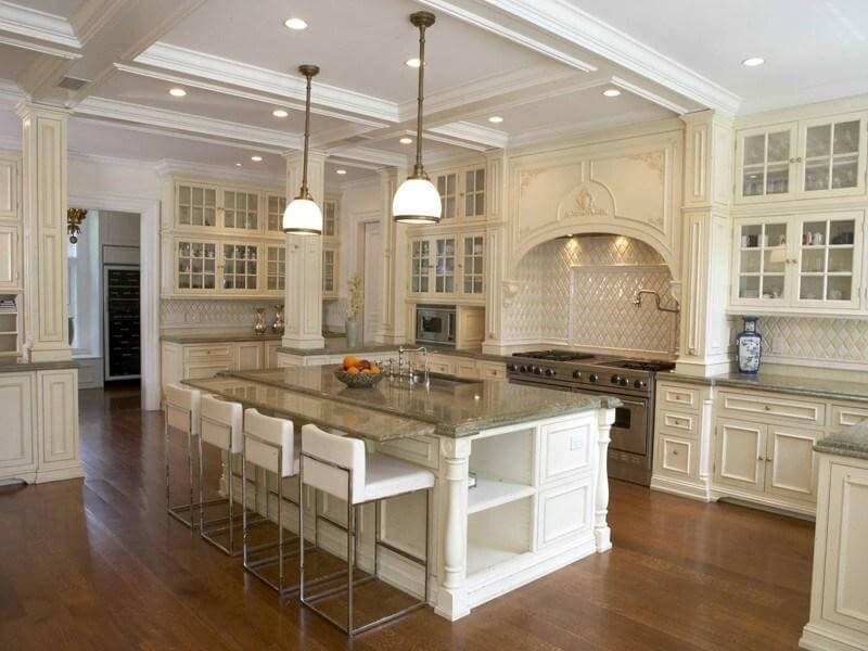 Delectable White Kitchen Cabinets Slate Floor Gallery Source Zillow Digs TM White Kitchen With Very Tall Cabinets Floor