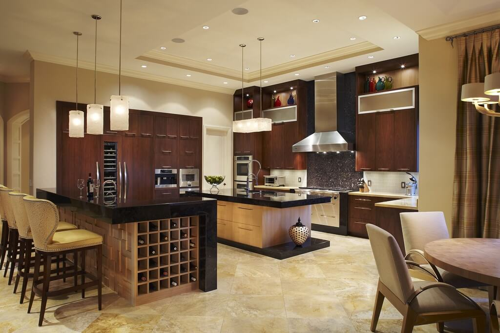 Modern kitchen design with warmth from the natural wood tone used  throughout  The clean lines27 Luxury Kitchens that Cost More than  100 000  Incredible  . Luxury Kitchen Design. Home Design Ideas