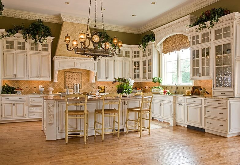 French Country House Plans Large Kitchens