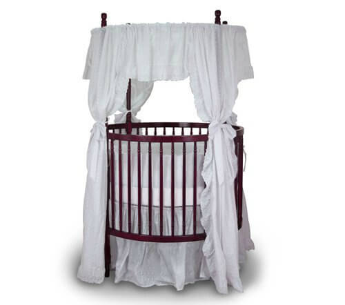 This Round Crib Is Crafted In Cherry Wood, With Fixed Sides For Enhanced  Stability.