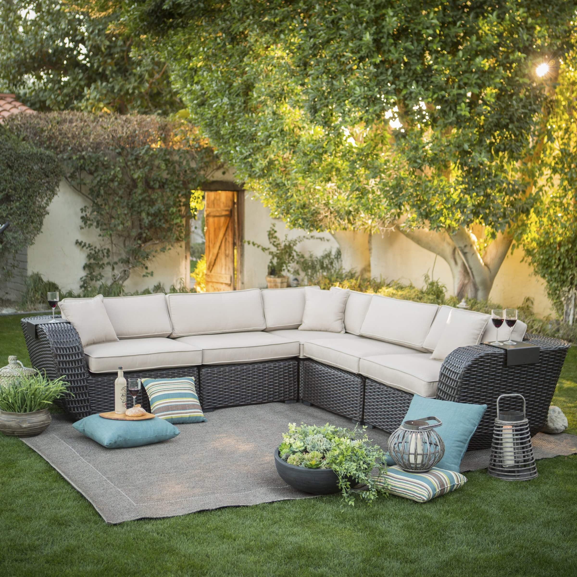 25 awesome modern brown all weather outdoor patio sectionals