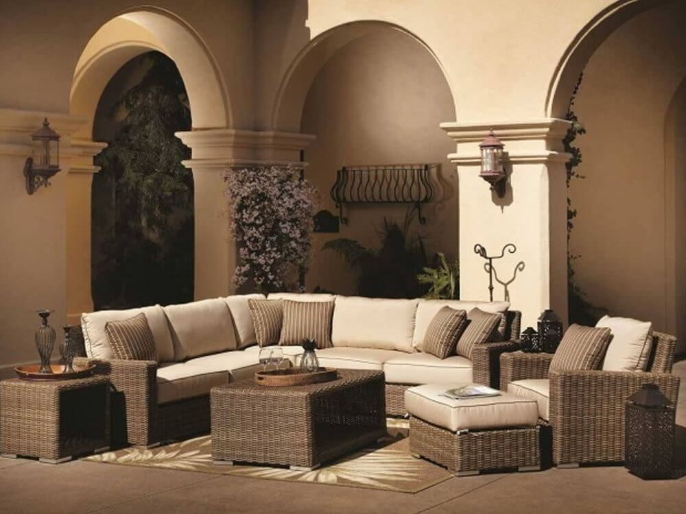 25 awesome modern brown all weather outdoor patio sectionals for Elegant patios