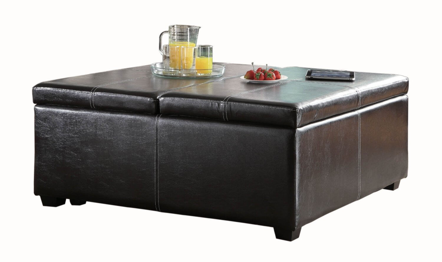Ottoman With Flip Top Tray
