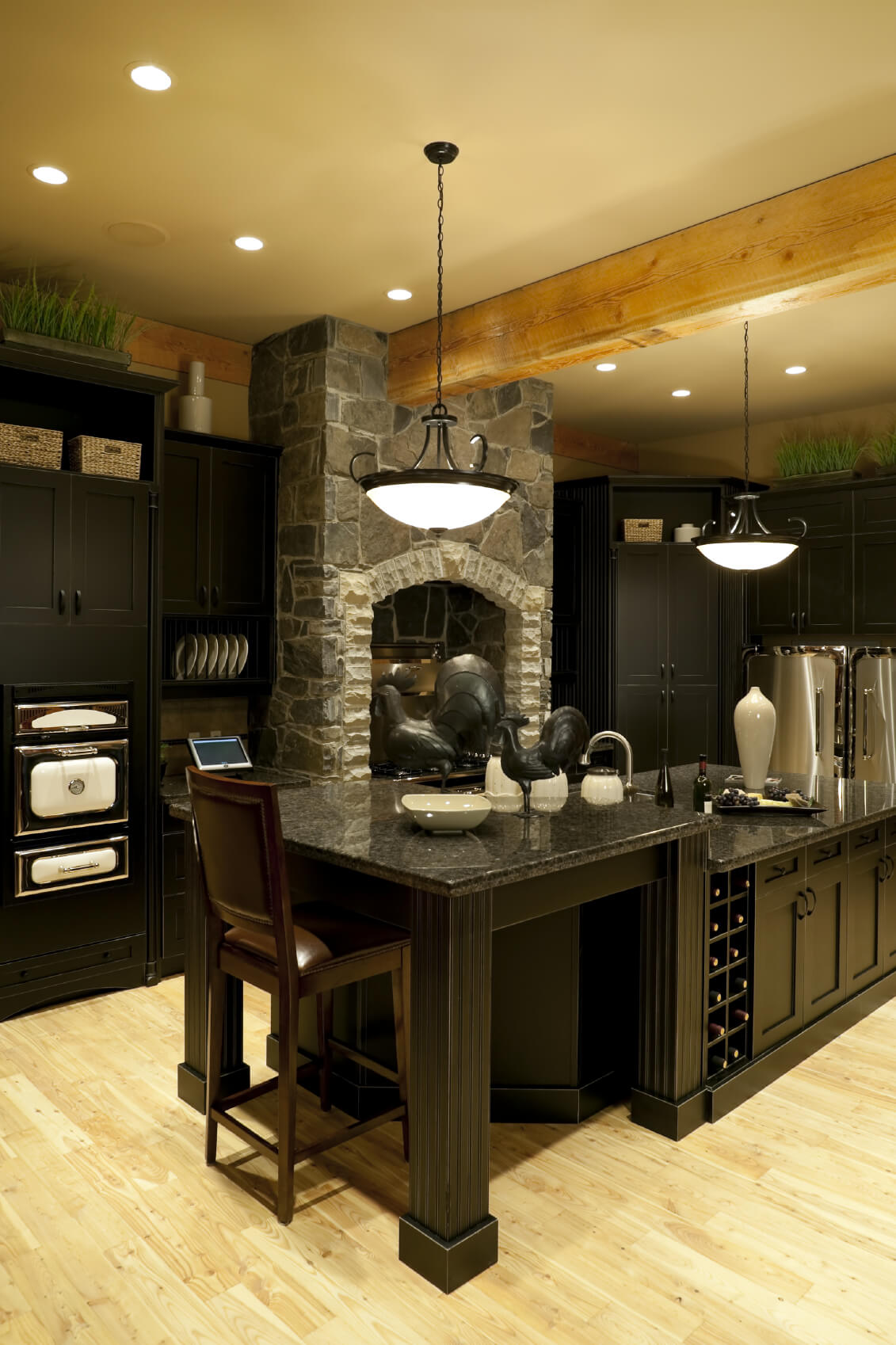 Luxury Kitchen Design Grand: 52 Dark Kitchens With Dark Wood And Black Kitchen Cabinets