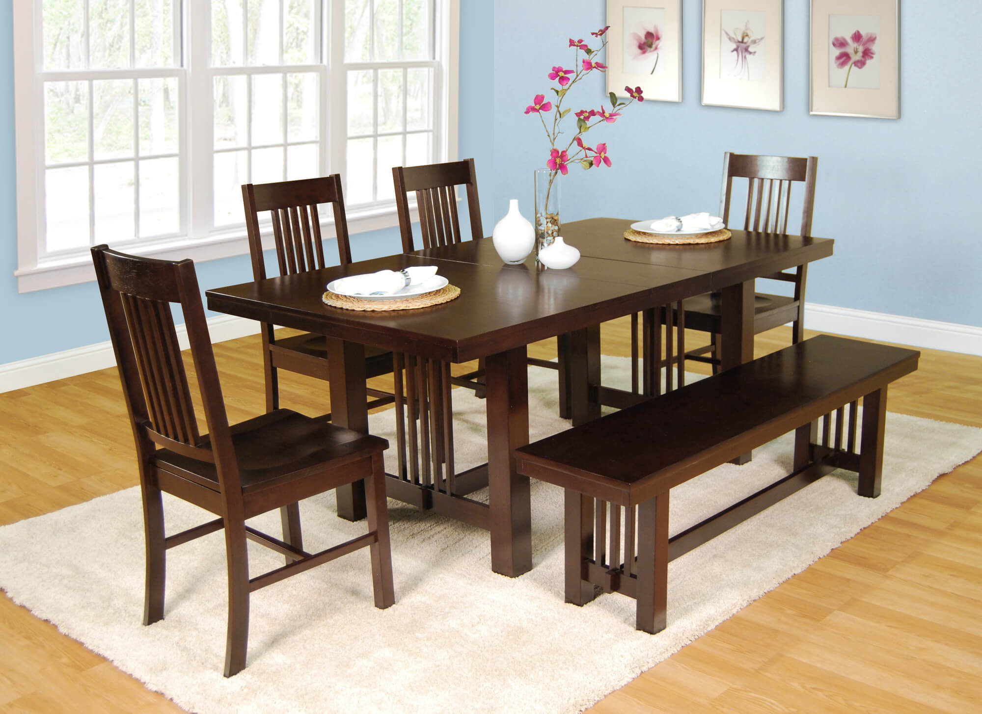 Dining Room Table With Benches D Art Collection Crestwood Piece Dining Set Privacy Pinterest Film