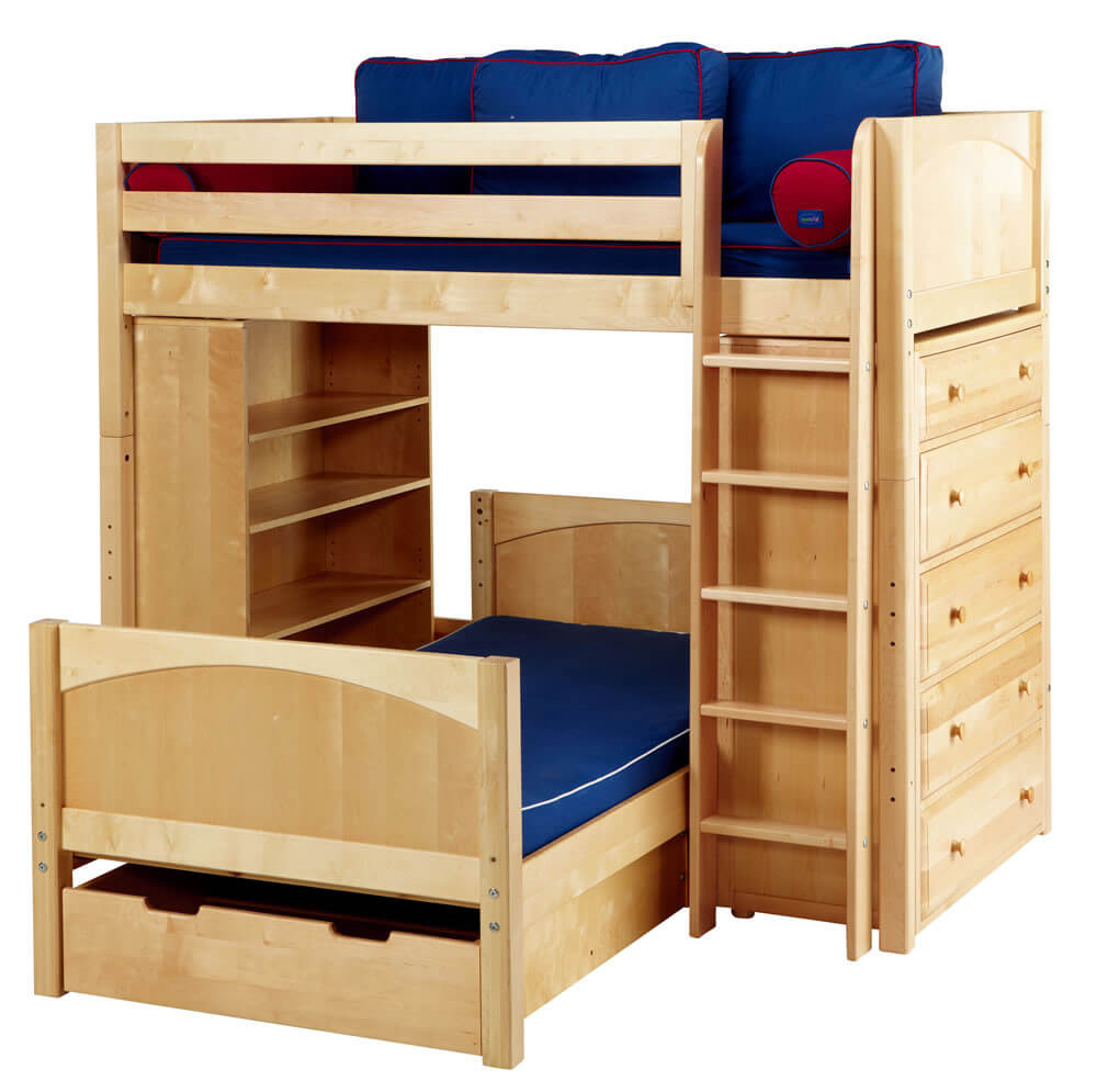 21 top wooden l shaped bunk beds with space saving features - Bunkbeds with drawers ...