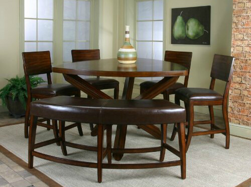 dining room set with a soft cornered triangle table the 4 chairs