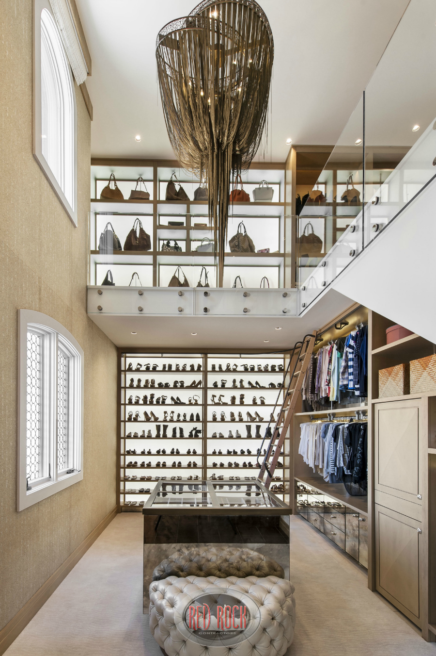 This Photo Showcases The Extensive Shoe And Handbag Storage Areas Of This  Luxurious 2 Story