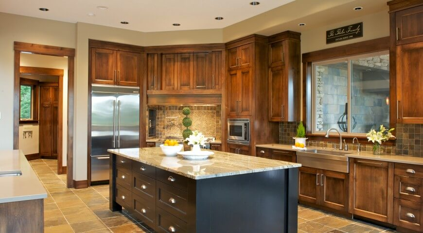 35 custom kitchen designs from top kitchen designers worldwide for Earth tone kitchen designs