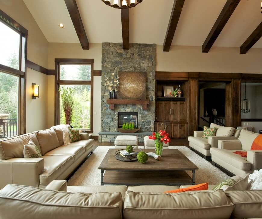 39 custom contemporary living room designs by designers - Vaulted ceiling living room ideas ...