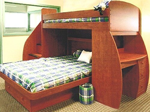 top wooden lshaped bunk beds with spacesaving features, Headboard designs
