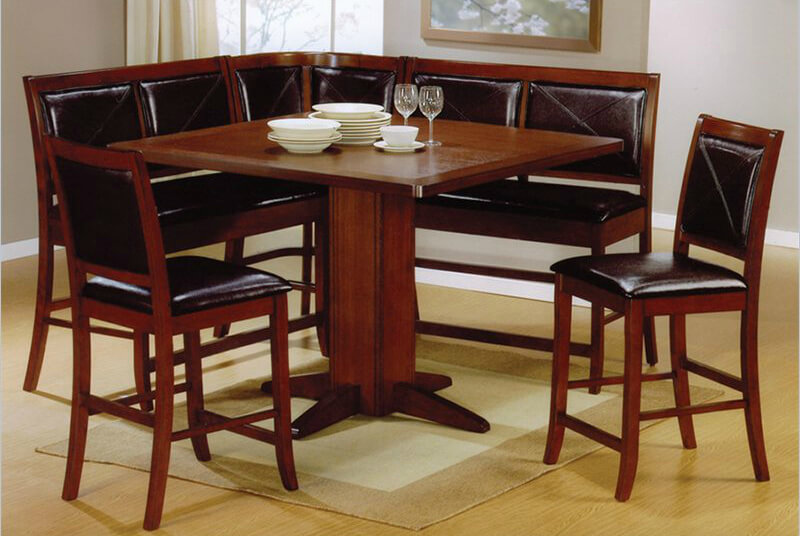 21 Space Saving Corner Breakfast Nook Furniture Sets BOOTHS : 3cym cushioned corner breakfast nook dining set from www.homestratosphere.com size 800 x 536 jpeg 86kB