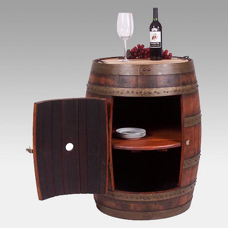 30 top home bar cabinets sets wine bars elegant fun for How to make a wine barrel bar
