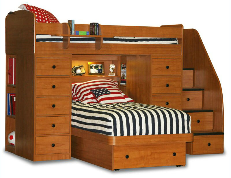 Twin Bed Frames With Storage 21 top wooden l-shaped bunk beds (with space-saving features