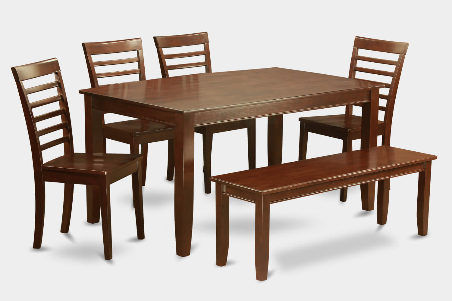 26 big small dining room sets with bench seating for Traditional dining table with bench