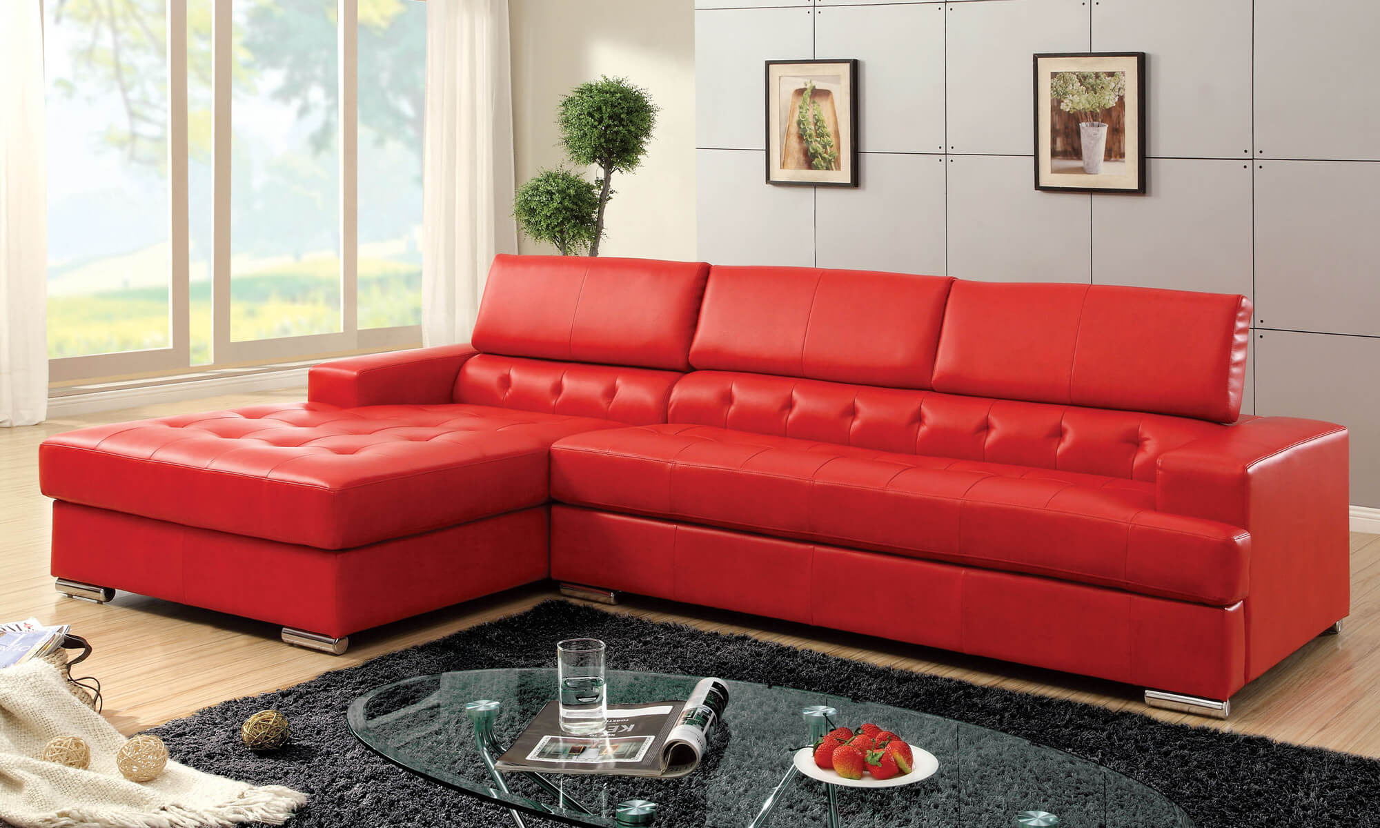 18 stylish modern red sectional sofas Red sofa ideas