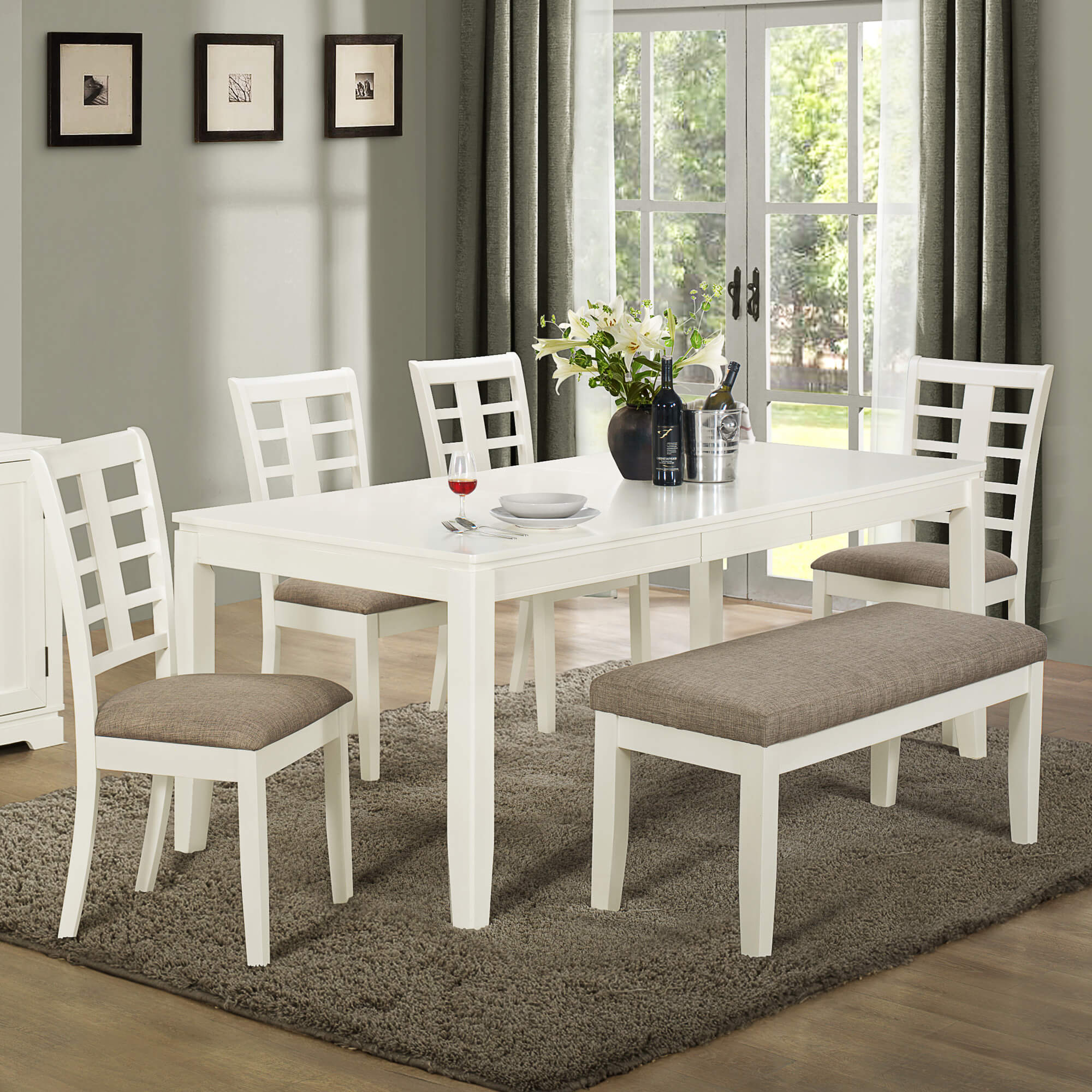Solid Wood Dining Room Tables And Chairs Alongside Beige Dining Chairs And Wooden Round Dining Table Quotes