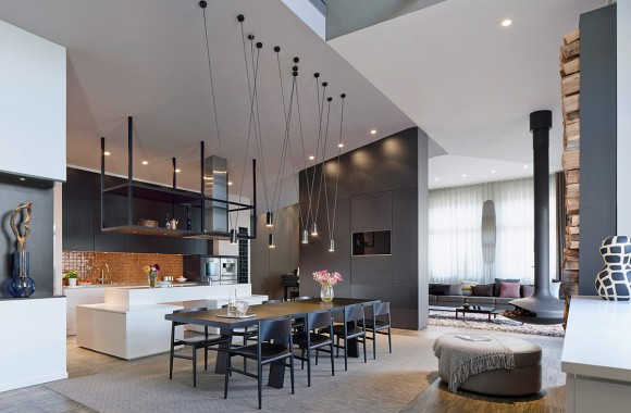 Soaring Modern Loft Interior Design by Ippolito Fleitz Group