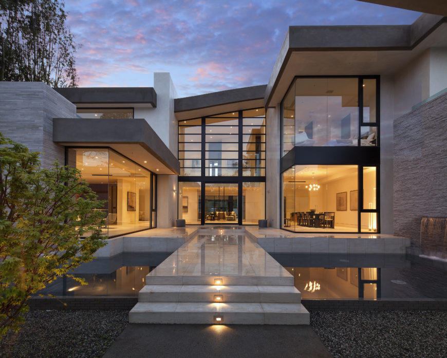 Mcclean designs creates custom magnificent modern mansion for Home designers los angeles