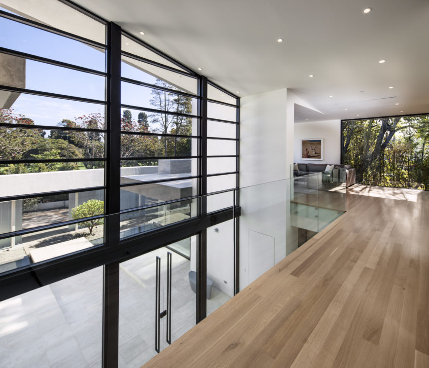 Mcclean designs creates custom magnificent modern mansion for Catwalk flooring