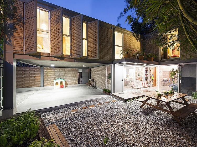 Brick Modern Brisas House by Garza Camisay Arquitectos.