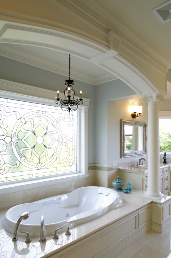 34 luxury white master bathroom ideas pictures for Bathroom window designs