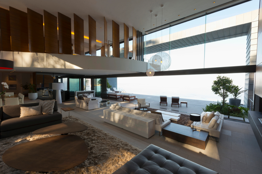 54 living rooms with soaring 2 story cathedral ceilings for Balcony concept