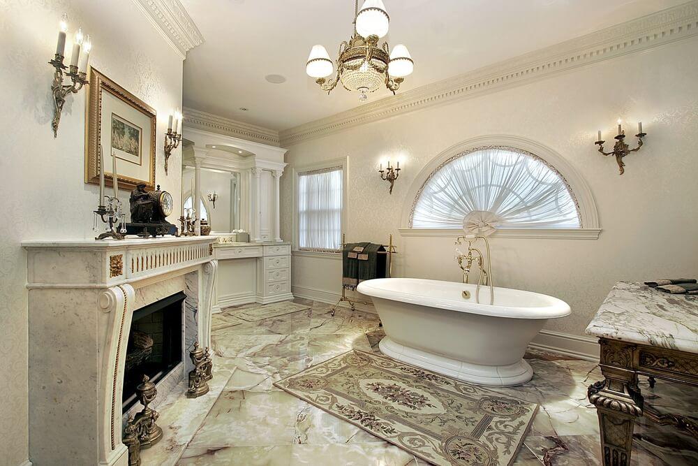 Luxury Marble Bathrooms 34 luxury white master bathroom ideas (pictures)