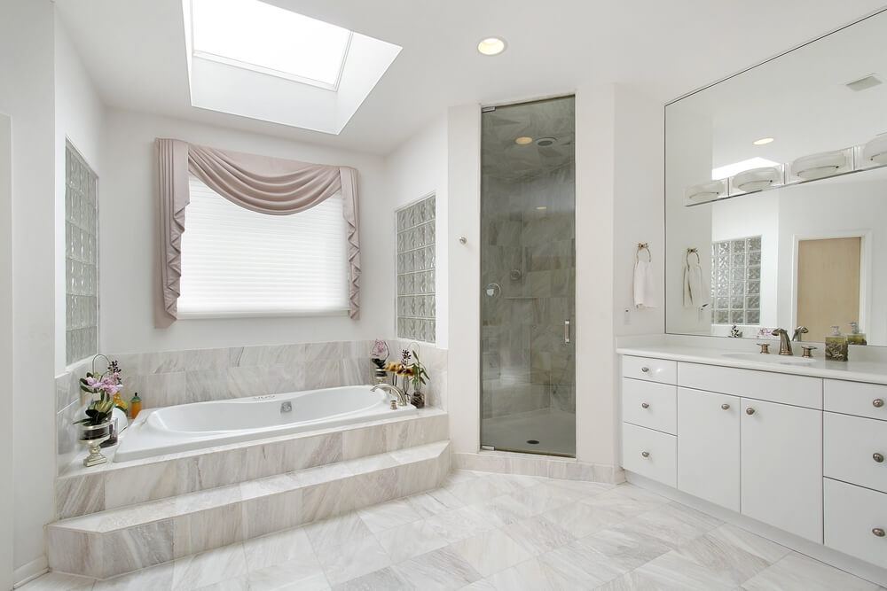 Bathroom Tiles Height 34 luxury white master bathroom ideas (pictures) | home stratosphere