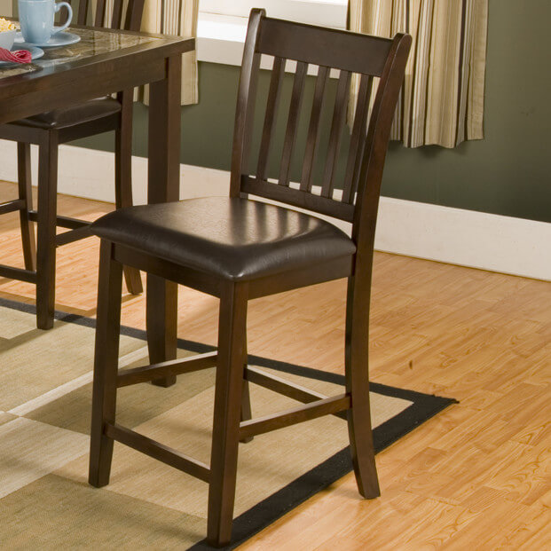 Wooden counter stool with Mission-style back and cushioned seat. & 52 Types of Counter u0026 Bar Stools (Buying Guide) islam-shia.org