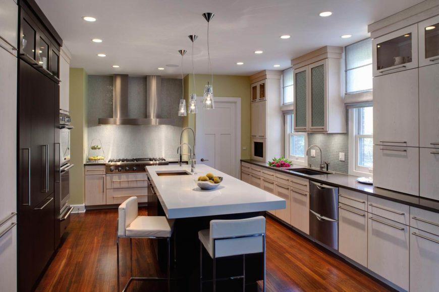 Soft Light Brightens Up Contemporary Kitchen By Drury Design