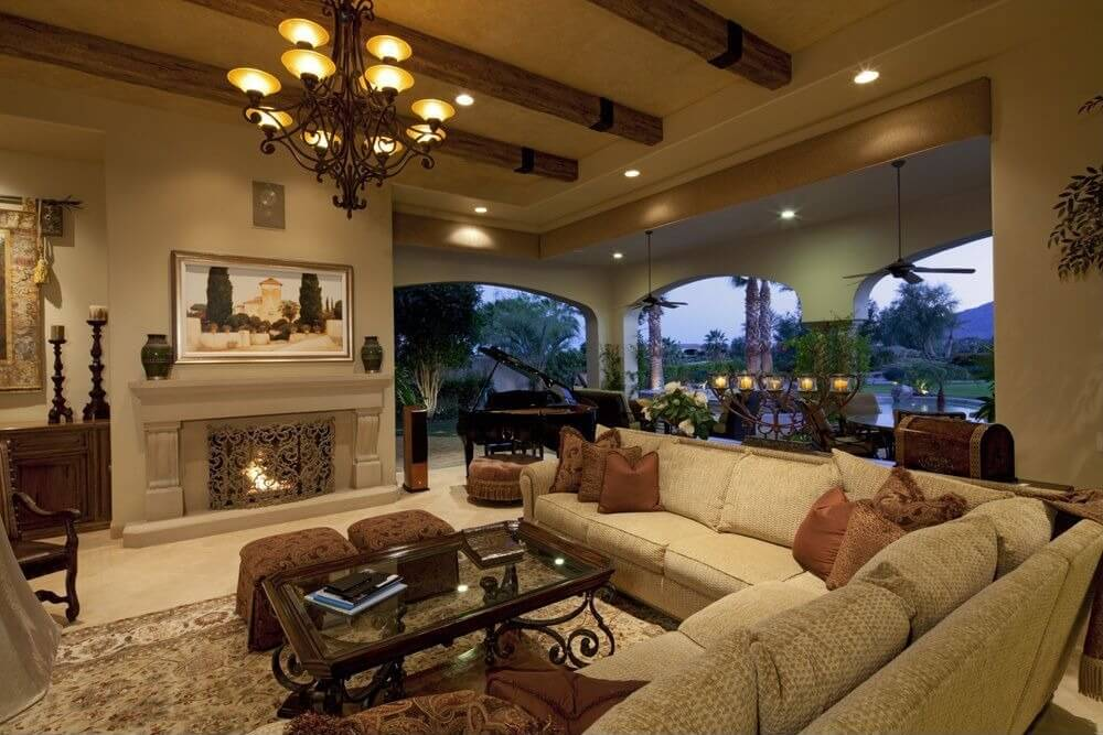 63 beautiful family room interior designs for Large family living room