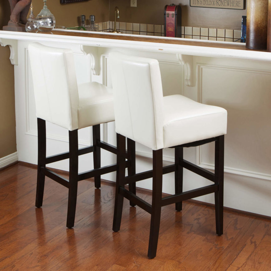 Saddle Seat Counter Stool Black