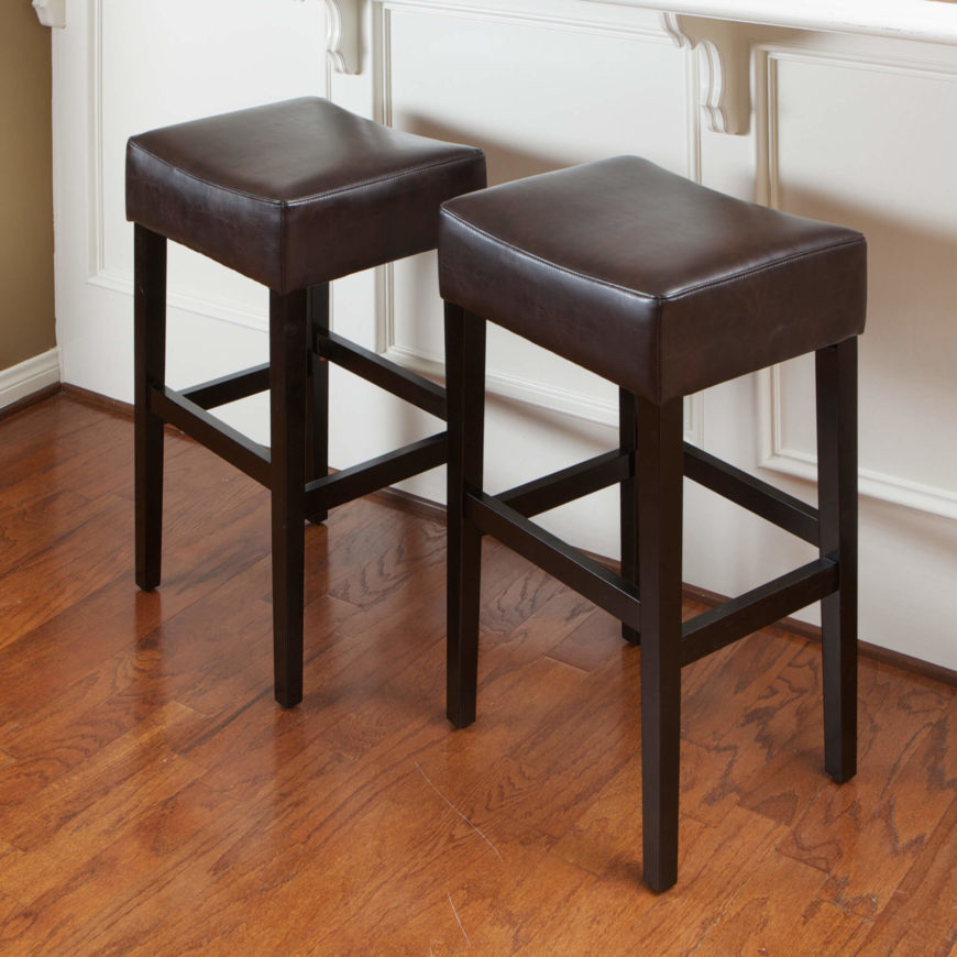 52 Types of Counter amp Bar Stools Buying Guide : 34 Leather Backless Stools 870x870 from www.homestratosphere.com size 870 x 870 jpeg 106kB