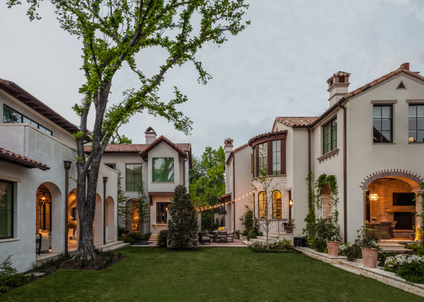 Here's a wide image of the sprawling estate, highlighting the varied elements as they come together for a unique, spectacularly luxurious home.