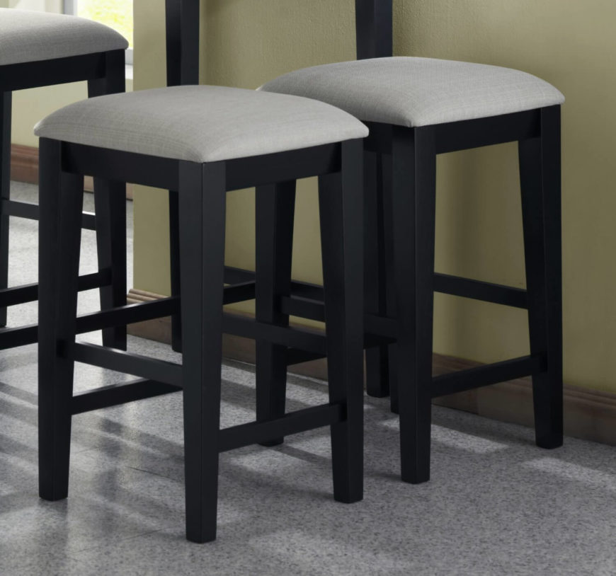 Grey kitchen counter stools with wood legs. & 52 Types of Counter u0026 Bar Stools (Buying Guide) islam-shia.org