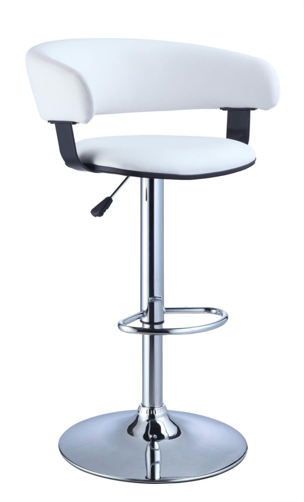 35 Stylish Modern Adjustable White Leather Bar Stools