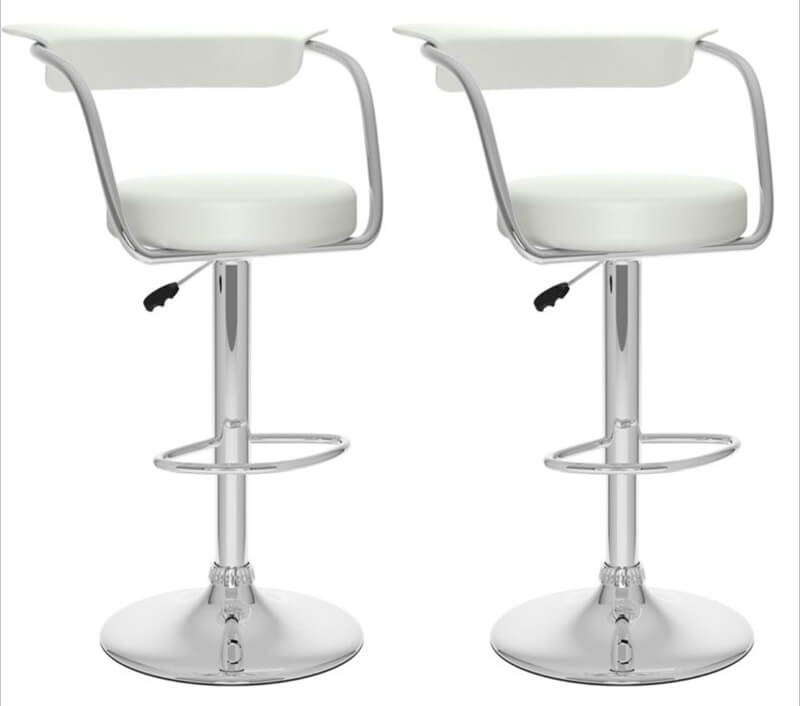 This Set Of 2 Modern Open Back Stools Are Minimalist In Design With A  Slight .