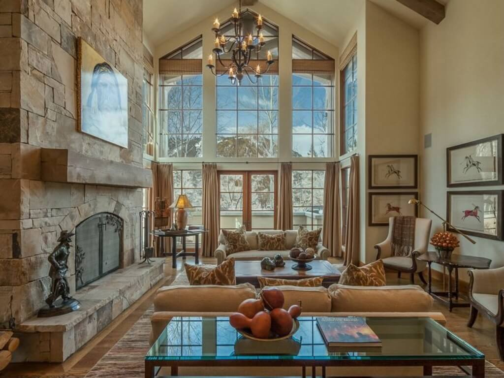 63 beautiful family room interior designs for Elegant windows