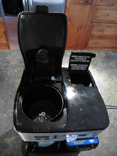 Hamilton Beach 2-Way FlexBrew Water Reservoir and Coffee Filter Area - Top View