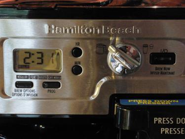Hamilton Beach FlexBrew Operating Controls and Buttons