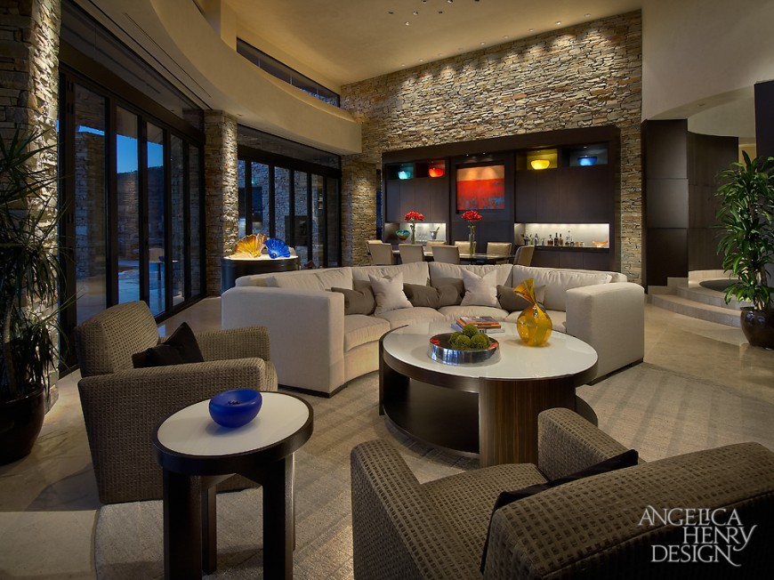 Contemporary Desert Home Interior Design by Angelica Henry Design