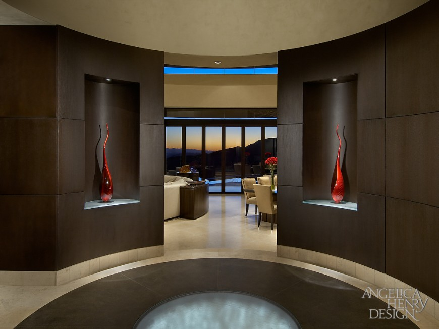 Contemporary Home Foyers : Contemporary desert home interior design by angelica henry