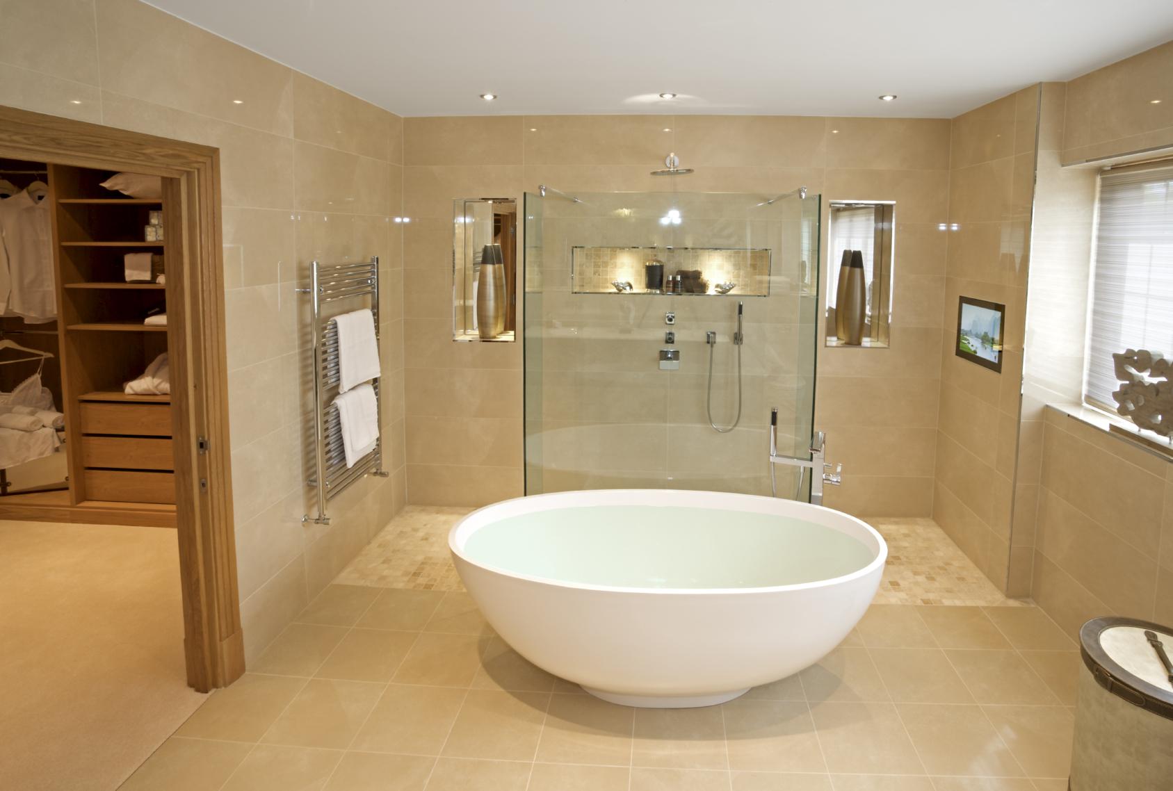 Amazing 45 Modern Bathroom Interior Design Ideas Largest Home Design Picture Inspirations Pitcheantrous