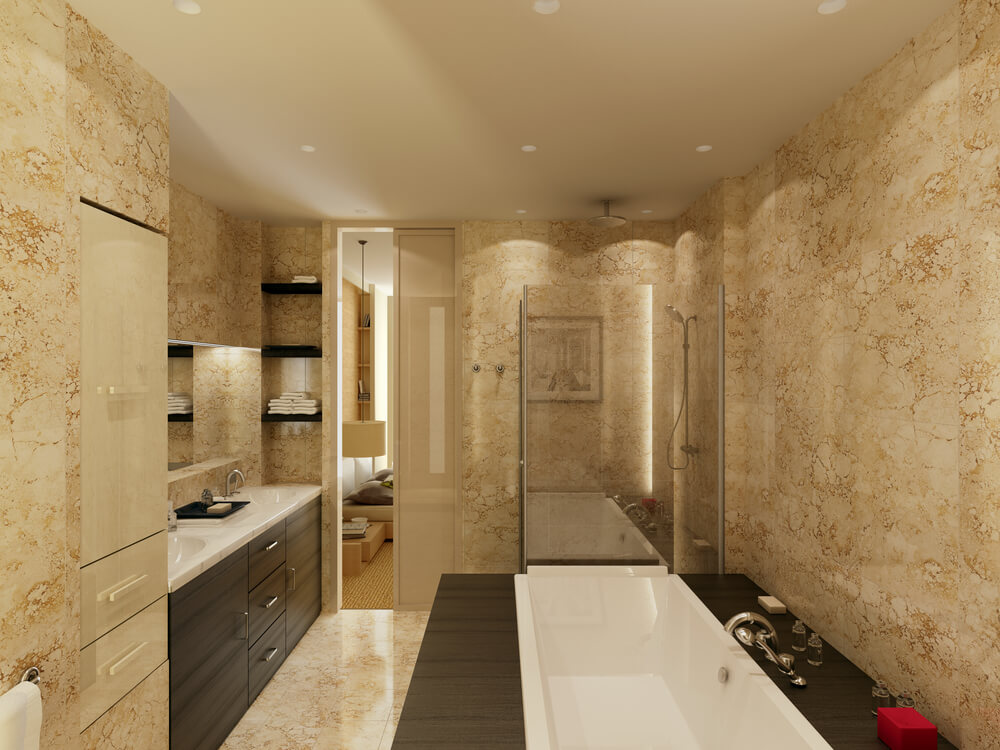 45 modern bathroom interior design ideas Beige brown bathroom design